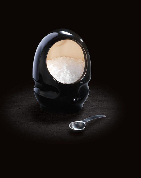 Cole & Mason Black Ceramic Salt Keeper.